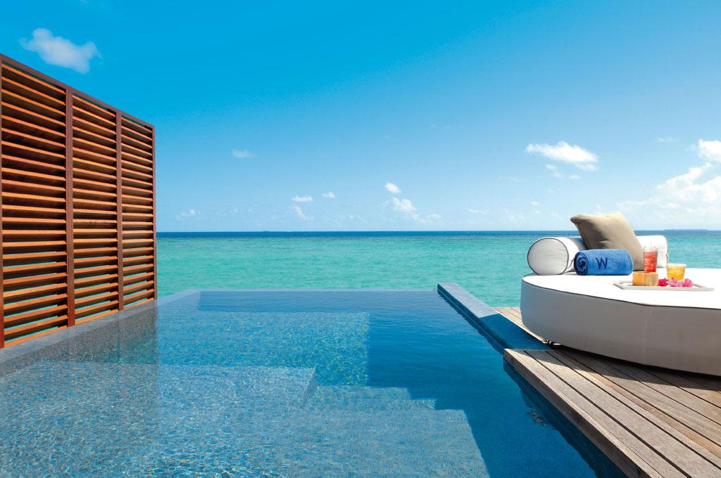 Hotel villaggio w retreat spa maldives offerte last for W piscinas