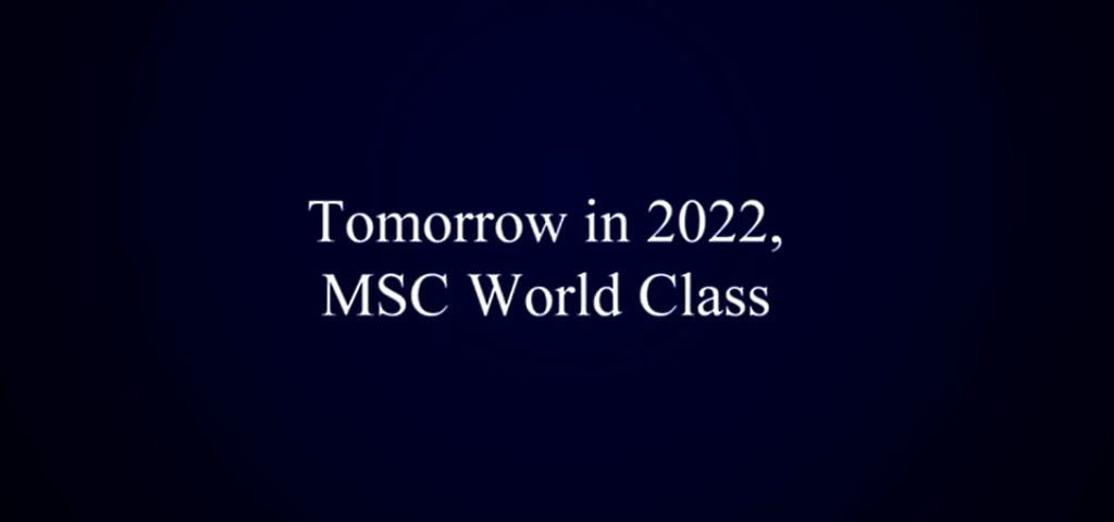 Msc World Class Navi Msc Crociere Inaugurazione 2022 - 2024