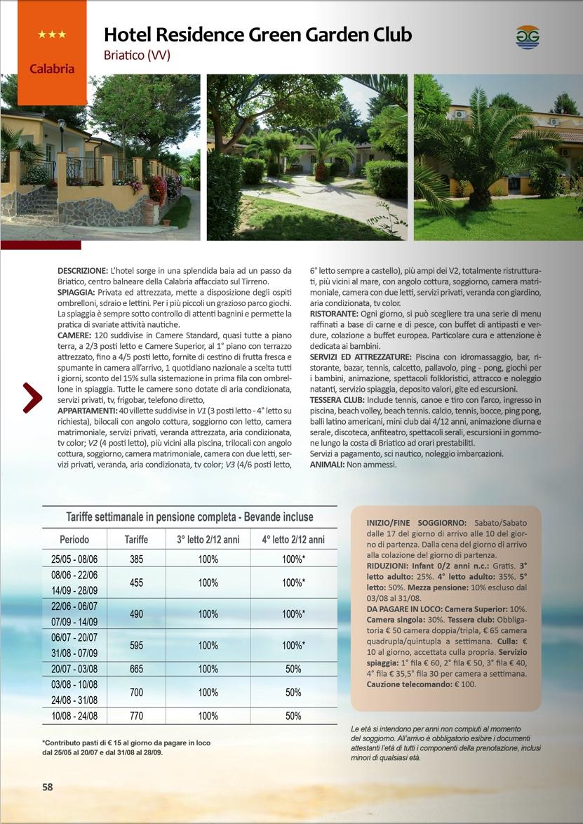 Hotel Residence Green Garden Club Calabria San Giorgio