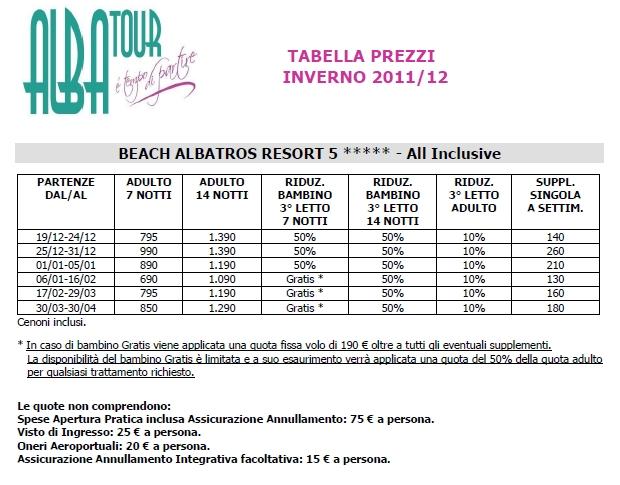 Beach albatros resort hurghada super offerte last second for Quattro stelle arredamenti prezzi